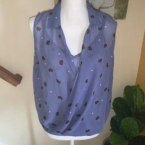 CAbi 5534 purple layered tank blouse top size XS